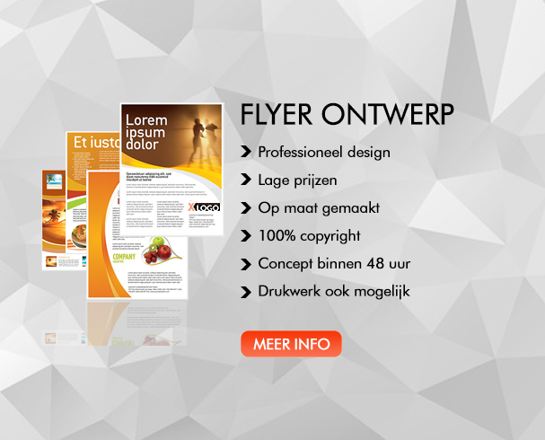 Flyer ontwerp XLOGO Logo ontwerp banner ontwerp huisstijl ontwerp visitekaartje ontwerp drukwerk scherpe tarieven
